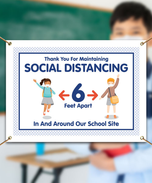 Thank You For Social Distancing School Site Banner