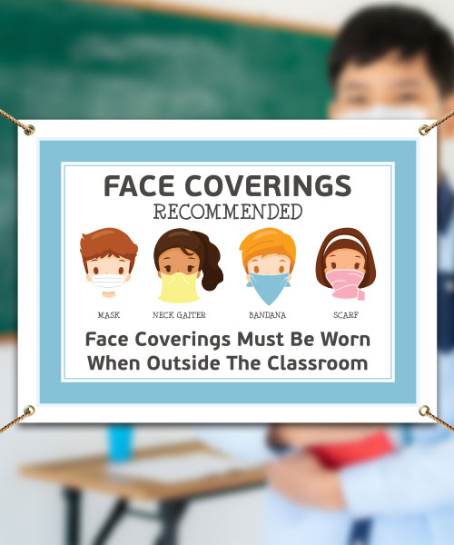 Face Coverings Recommended Banner