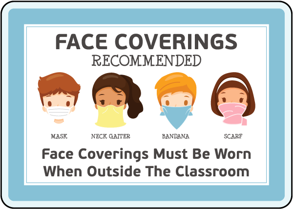 Face Coverings Recommended Sign