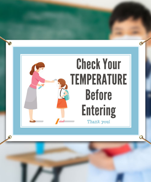 Check Your Temperature Before Entering Banner