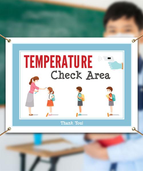 Temperature Check Area Banner