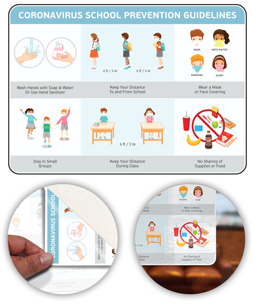 Coronavirus School Prevention Guidelines Sign
