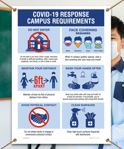 Covid-19 Response Campus Requirements Banner