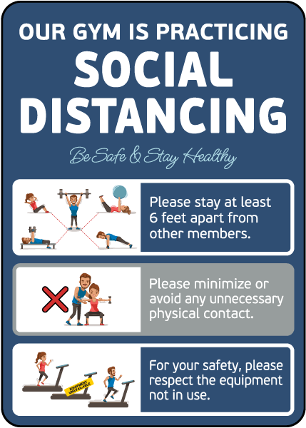 Gym Social Distancing Sign