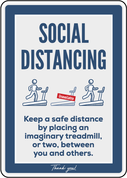Social Distancing Gym Sign