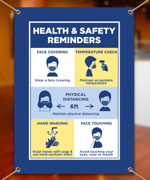 Health And Safety Reminders Banner D6488 By Safetysign Com