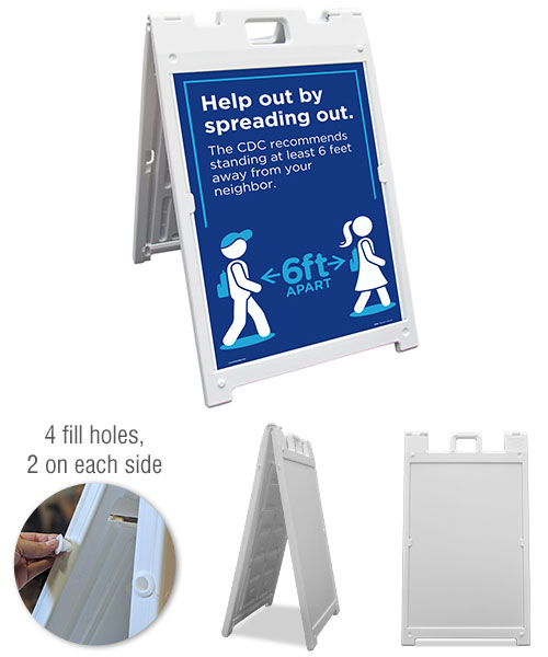 Help Out by Spreading Out Sandwich Board Sign