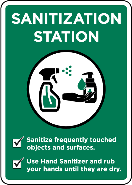 Sanitization Station Sign