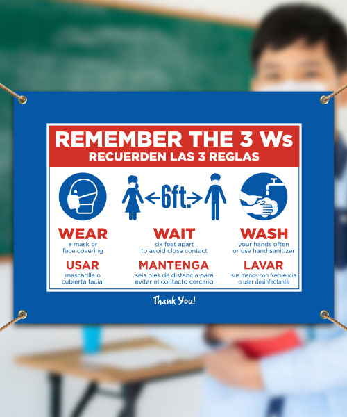 Remember The 3W's Bilingual Banner