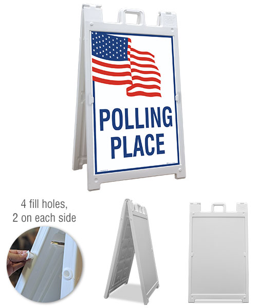 Polling Place Sandwich Board Sign