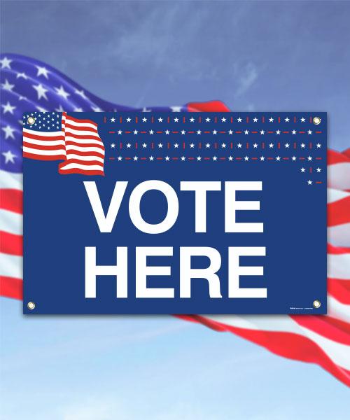 Vote Here Banner
