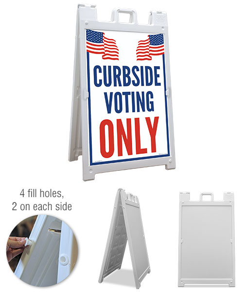 Curbside Voting Only Sandwich Board Sign