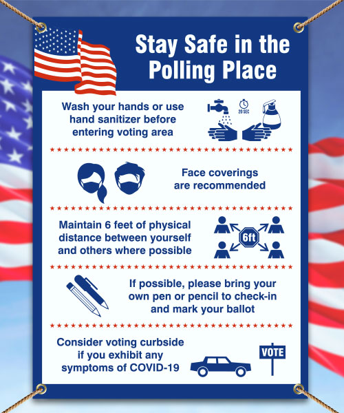 Stay Safe Polling Place Banner