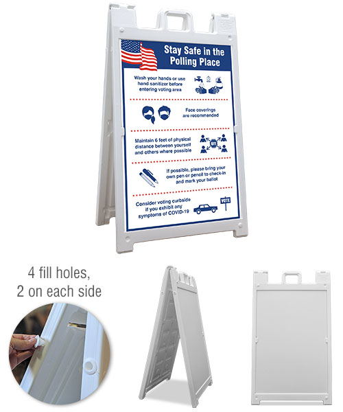 Stay Safe Polling Place Sandwich Board Sign