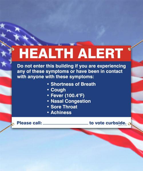 Vote Curbside Health Alert Banner