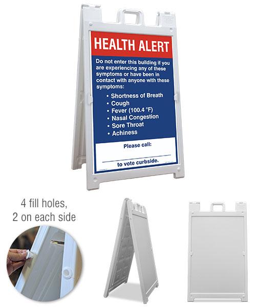 Vote Curbside Health Alert Sandwich Board Sign