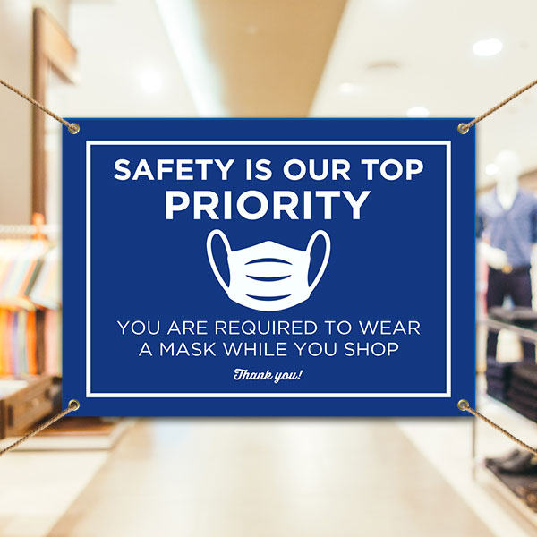 Wear A Mask While You Shop Banner