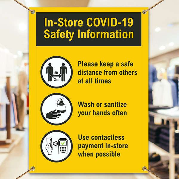 In-Store COVID-19 Safety Information Banner