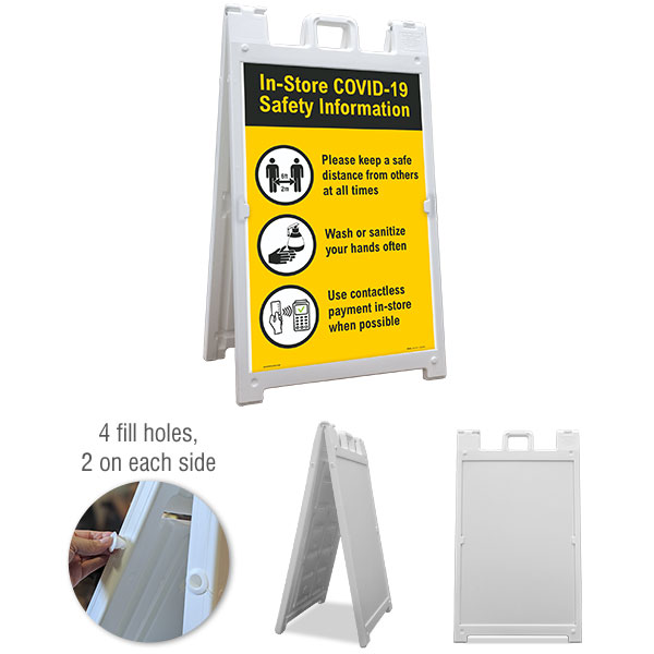 In-Store COVID-19 Safety Information Sandwich Board Sign