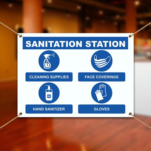 Sanitation Station Banner