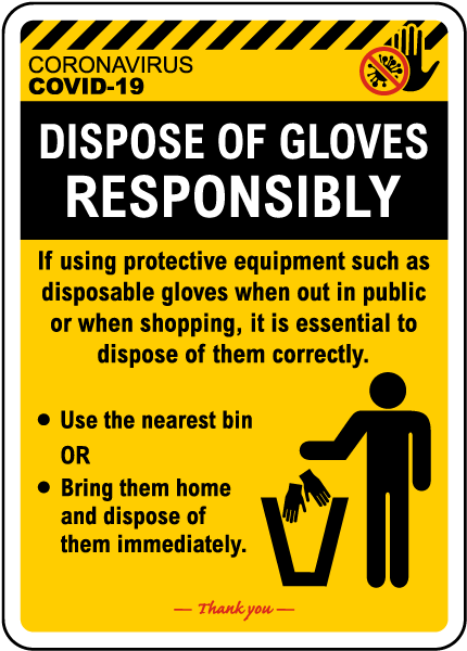 Dispose of Gloves Responsibly Sign