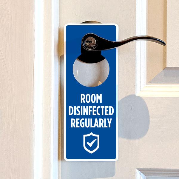 Room Disinfected Regularly Door Hanger