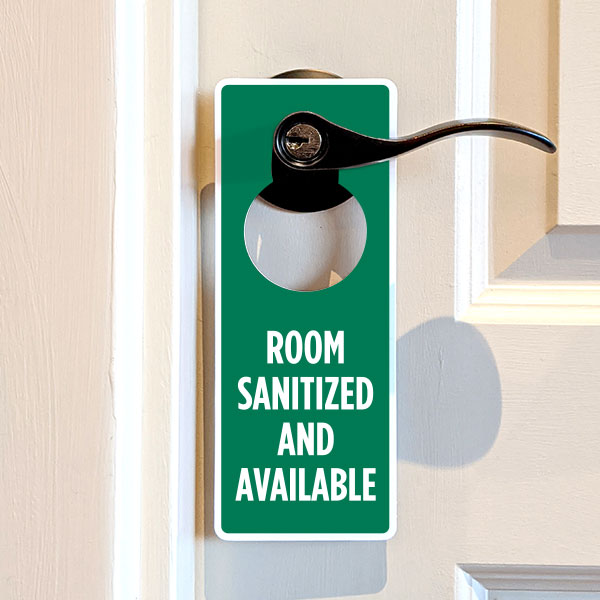 Room Sanitized and Available Door Hanger