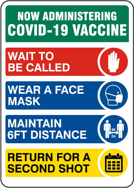 COVID-19 Vaccine Protocols Sign