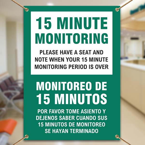 Bilingual 15 Minute Monitoring Banner