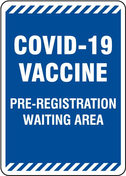 COVID-19 Vaccine Pre-Registration Sign
