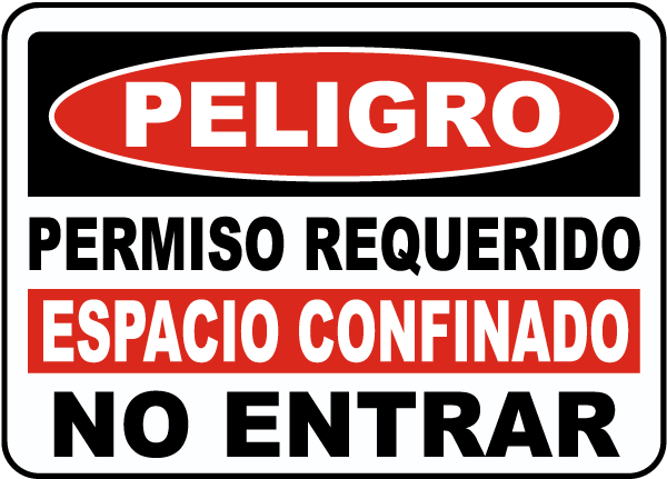 Spanish Permit Required Confined Space Sign