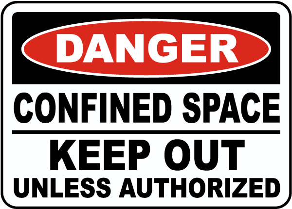 Keep Out Unless Authorized Label