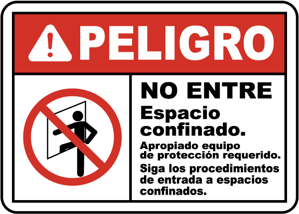 Spanish Proper Protective Clothing Required Sign