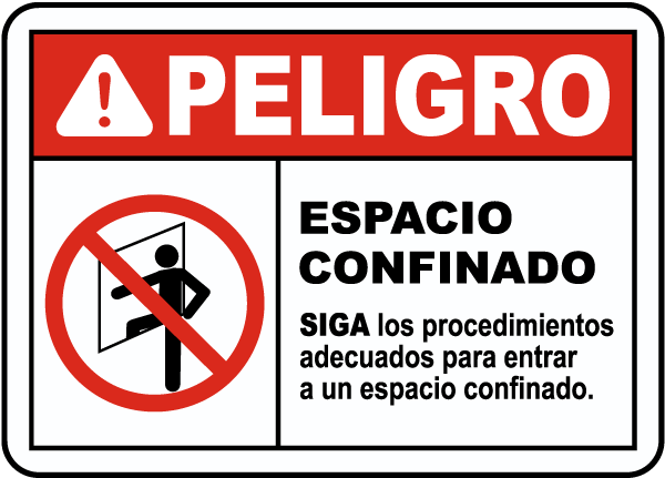 Spanish Entry Procedures Must Be Followed Label
