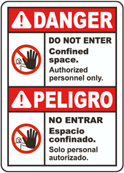 Bilingual Danger Do Not Enter Sign