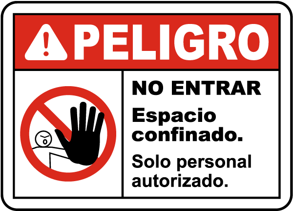 Spanish Danger Do Not Enter Authorized Personnel Only Label