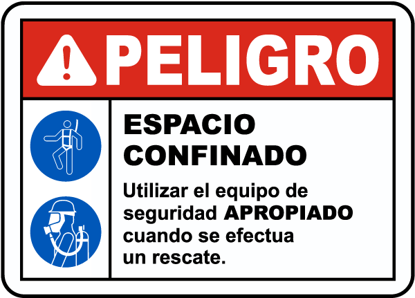 Spanish Danger Safety Equipment Must Be Worn Sign