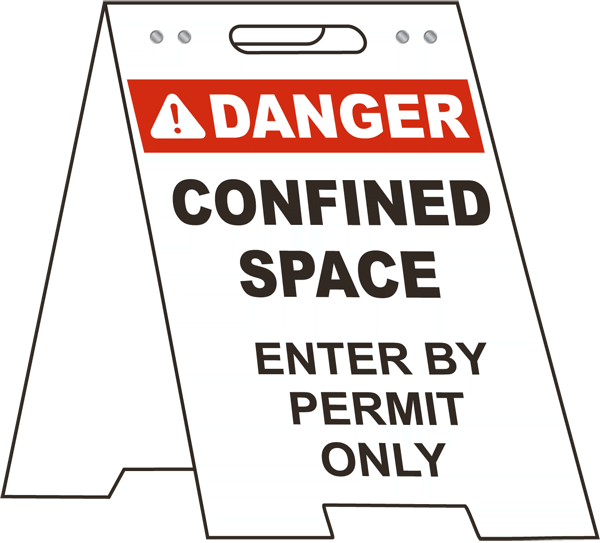 Enter By Permit Only Floor Stand