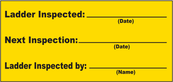 Ladder Inspection Label