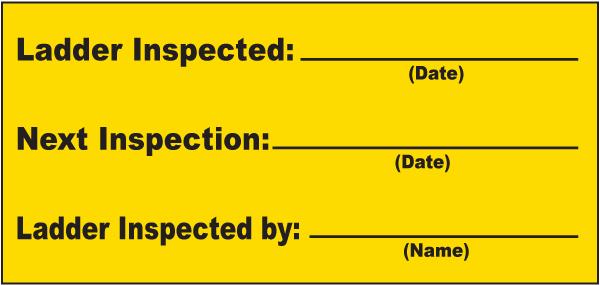 Ladder Inspection Label