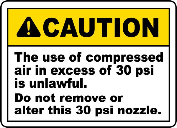 Do Not Remove or Alter Nozzle Label
