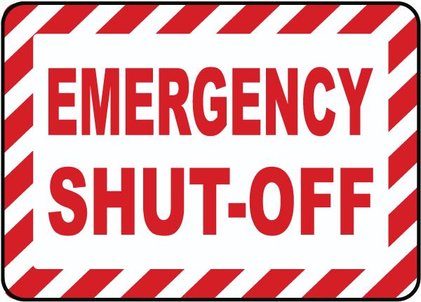 Emergency Shut-Off Label