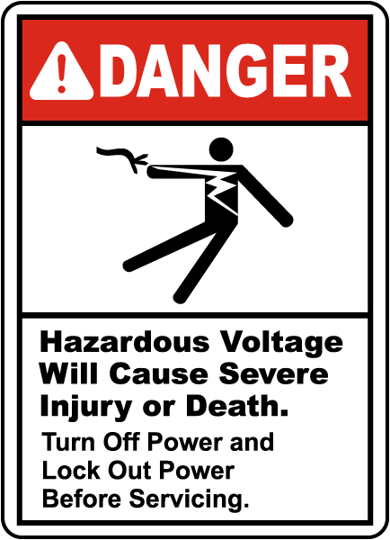 Danger Hazardous Voltage, E2204