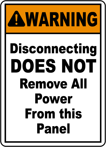 Disconnecting Does Not Remove All Sign