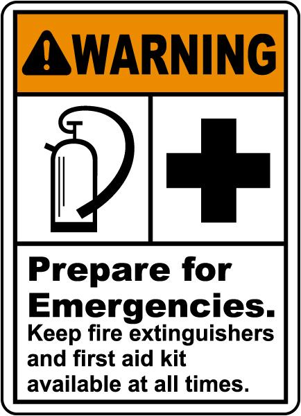 Prepare For Emergencies Sign