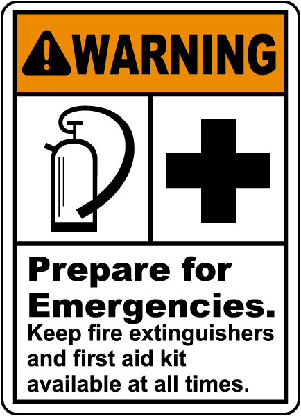 Warning Prepare for Emergencies., E2227