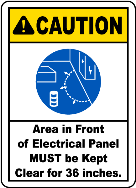Caution Area in Front of Electrical Panel, E2228