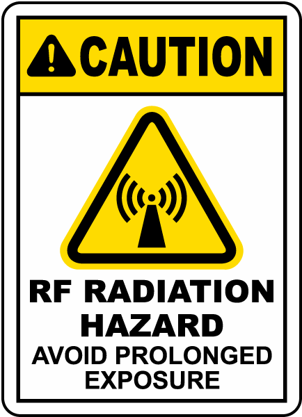 RF Radiation Hazard Avoid Exposure Sign
