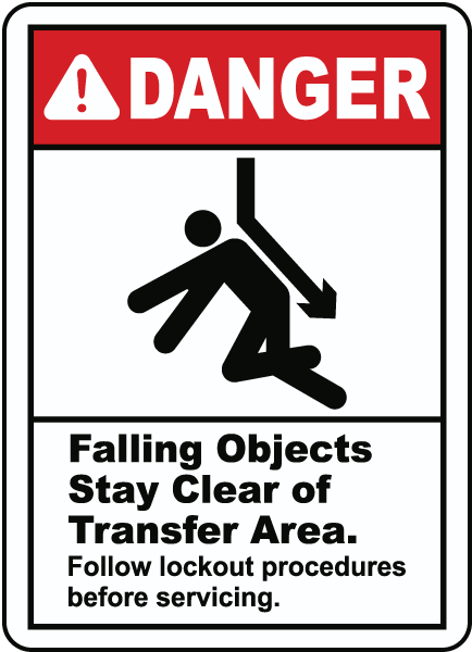 Stay Clear of Transfer Area Sign