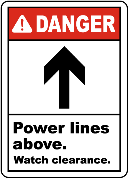 Power Lines Above Sign